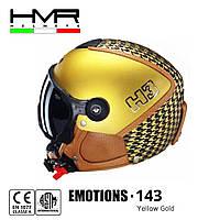 Горнолыжный шлем HMR helmets Emotions H3 с визором M/S (55/57) желтый Yellow Gold 143-M/S
