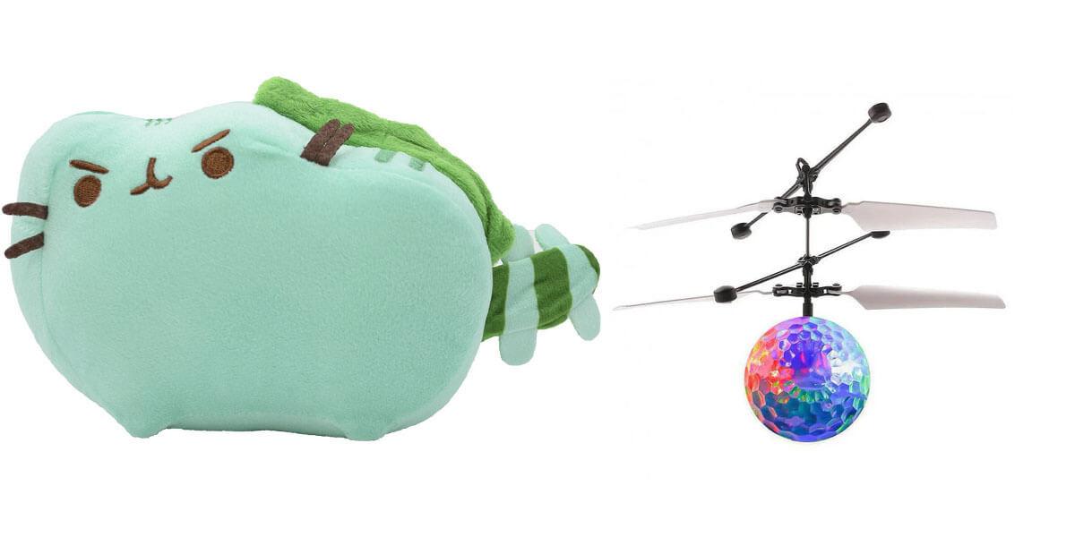 Комплект Мягкая игрушка кот дракон Pusheen cat и Летающий светящийся шар JM-888 (vol-731)