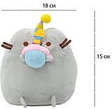 Комплект Мягкая игрушка кот с кексом Pusheen cat и Летающий светящийся шар JM-888 (n-734), фото 5