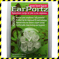 Сменные вкладыши ProGuard EarPortz (S, M, L, XL).