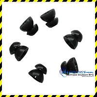 Сменные чёрные вкладыши для Alpine, Qzone, EarSonics (S размер)., фото 1
