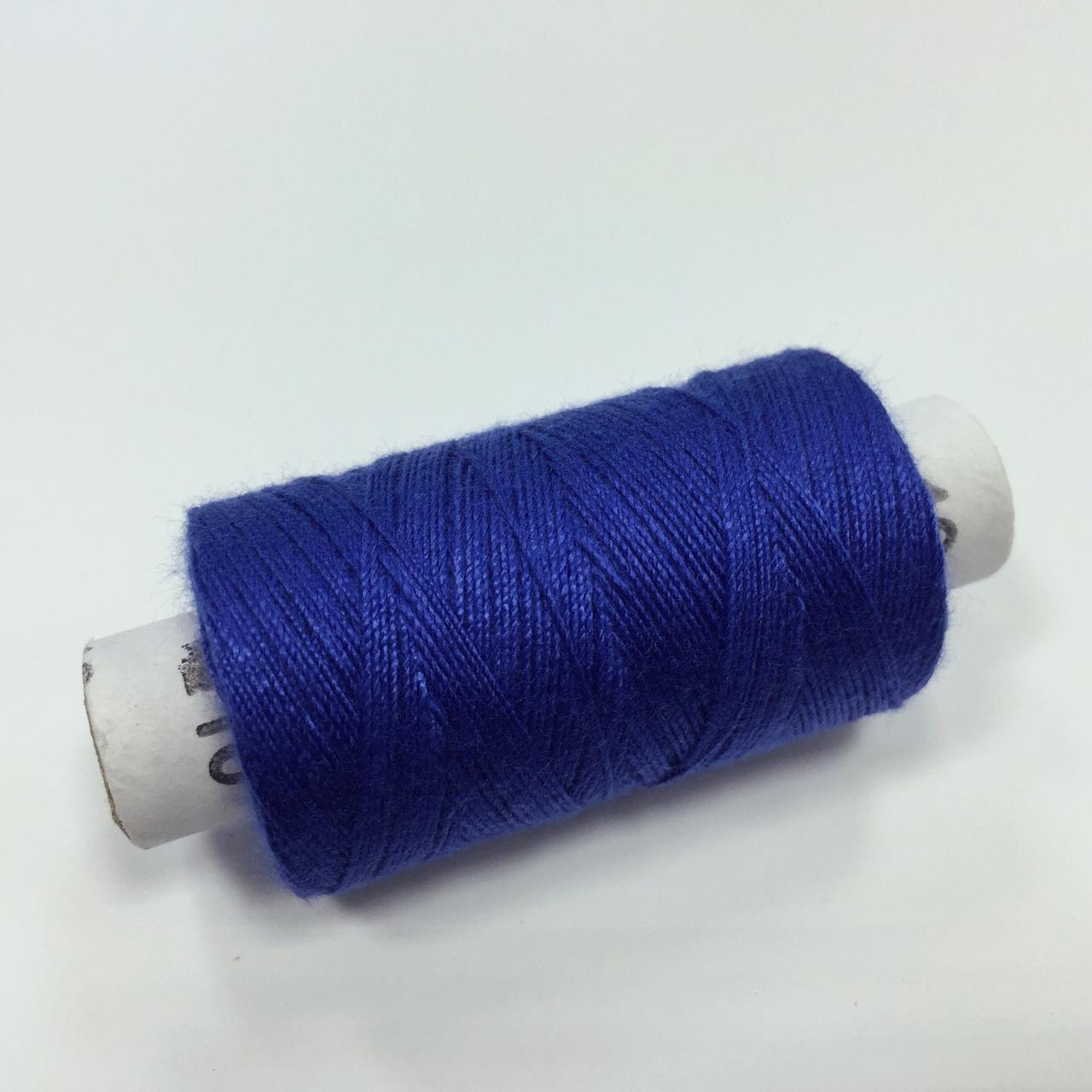 Нитки швейные 20/3 цв. 027 синий (100 ярдов)