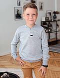 Детский джемпер для мальчика *Класс-2* (размеры 122-146. Цвет синий,серый,темно-серый), фото 2