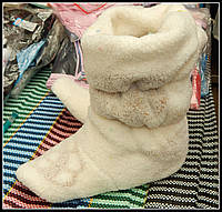 Тёплые тапочки-сапожки для дома