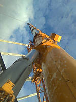 Ремонт цоколя промышленной дымовой трубы