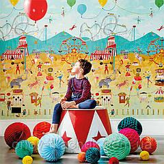 Шпалери в дитячу Lifes a Circus Book Of Little Treasures Harlequin