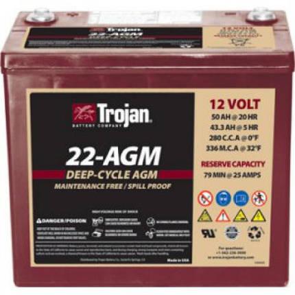 Аккумуляторная батарея Trojan 22-AGM, фото 2