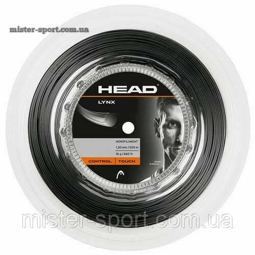 Head Lynx струны для тенниса 1.30 мм/200 м. бобина черные