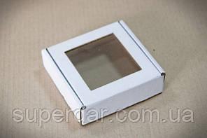 Коробка для цукерок і виробів Hand Made, 100х100х30 мм, біла СД03-02