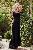 """Д601 Вечернее платье """"Королева"""" черный"""