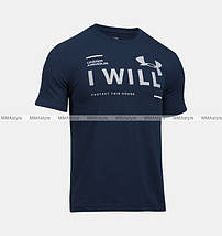 Футболка Under Armour I Will T-Shirt Charged Cotton Navy, фото 2
