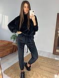 Женский спортивный костюм велюровый Цвета: чёрный, мокко. Размеры: 42-46, 48-52., фото 2