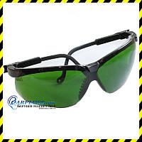 Очки защитные Uvex Genesis S3207, зелёные линзы (Shade 3.0).