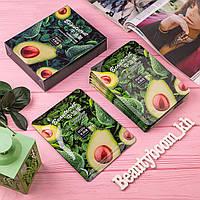 Набор Масок-салфеток с экстрактом авокадо ZOZU интенсивно смягчает кожу. Набор 10шт