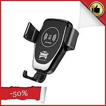 Автодержатель TOTU Wireless Charger Car Mount, фото 2