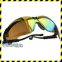 Очки стрелковые Uvex Genesis S3203, зеркальные линзы  золотого цвета!