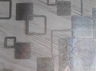 Скатерть мягкое стекло Soft Glass с лазерным рисунком 1.1х0.8м (толщина 1.5мм) Серебристые квадраты