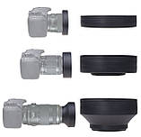 Бленда резиновая AccPro LF-22 Rubber 62 mm, фото 4