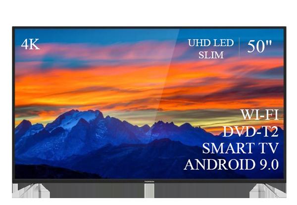 "Качественный телевизор Thomson 50"" Smart-TV//DVB-T2/USB АДАПТИВНЫЙ UHD,4K/Android 9.0"