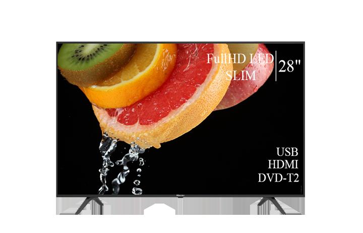 """Качественный телевизор Hisense 28"""" FullHD/DVB-T2/USB (1920×1080)"""