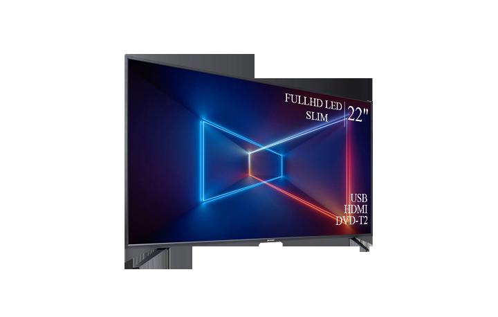 "Качественный телевизор Sharp 22"" FullHD/DVB-T2/USB (1080р)"