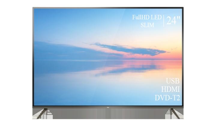 """Качественный телевизор TCL 24"""" FullHD+DVB-T2+USB"""