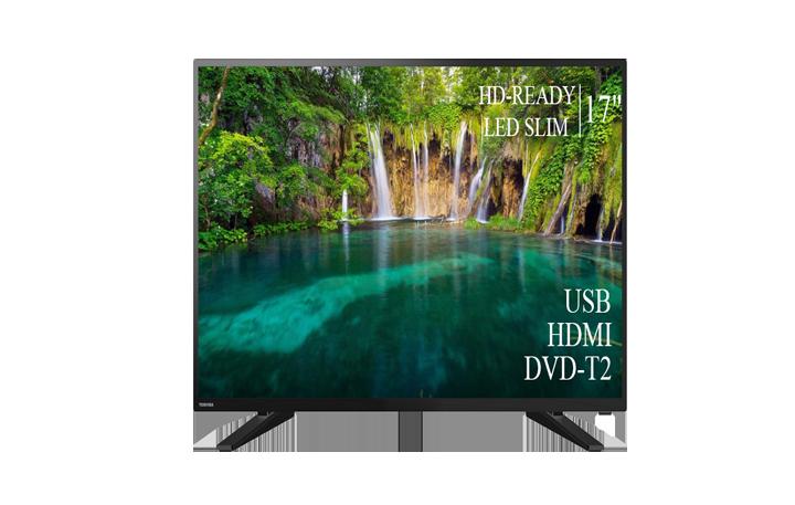 """Якісний телевізор Toshiba 17"""" HD-Ready+DVB-T2+USB"""