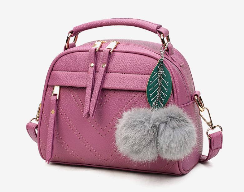 Сумка женская кожаная кросс боди через плечо Stylish bag Лиловый