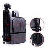 Рюкзак AccPro DAC-1721G black/red, фото 6