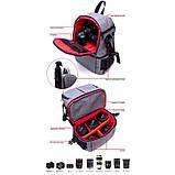 Рюкзак AccPro DAC-1721G black/red, фото 7