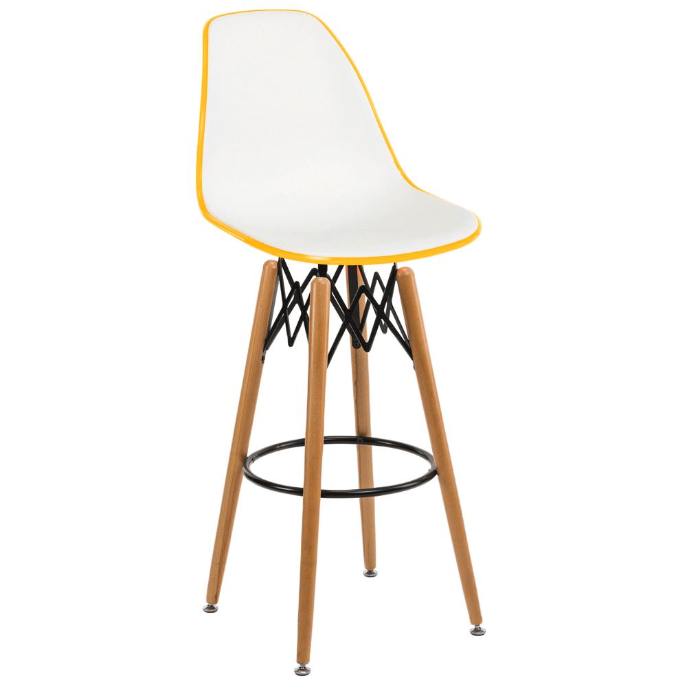 Стул барный Tilia Eos-V ножки буковые желтый - белая слоновая кость
