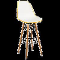 Стул барный Tilia Eos-V ножки буковые желтый - белая слоновая кость, фото 1