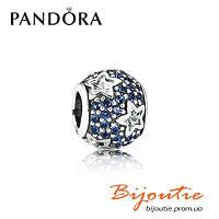 Pandora шарм СИЯНИЕ ЗВЕЗДЫ 791382CZ серебро 925 синий циркон хрусталь Пандора оригинал