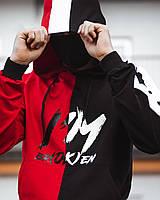 Спортивный костюм мужской демисезонный Sad Smile xx Broken черно-красный осенний весенний | ЛЮКС качества