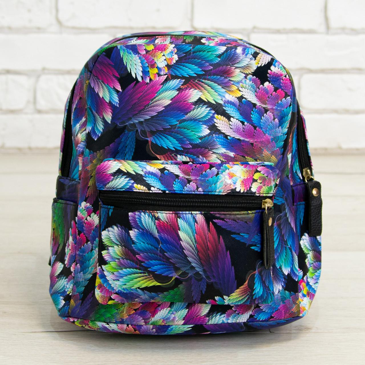 Оптом красивый модный и практичный рюкзак со стильным принтом (арт. 30-3202)