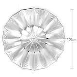Фотозонт Visico AU160-B (150см) Silver/Black параболический, фото 4