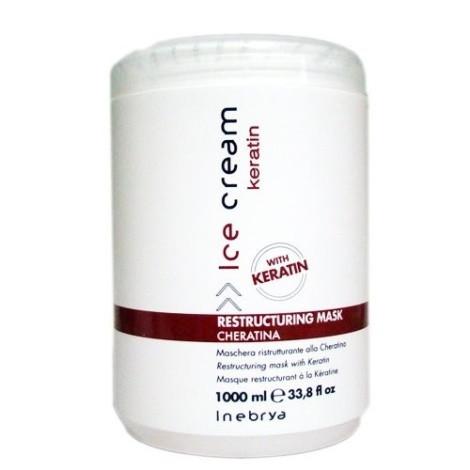 Маска с кератином Inebrya Ice Cream Keratin Restructuring Mask 1000 ml