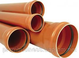 Труба канализационная наружная ПВХ оранжевая 110х3,2мм   1м