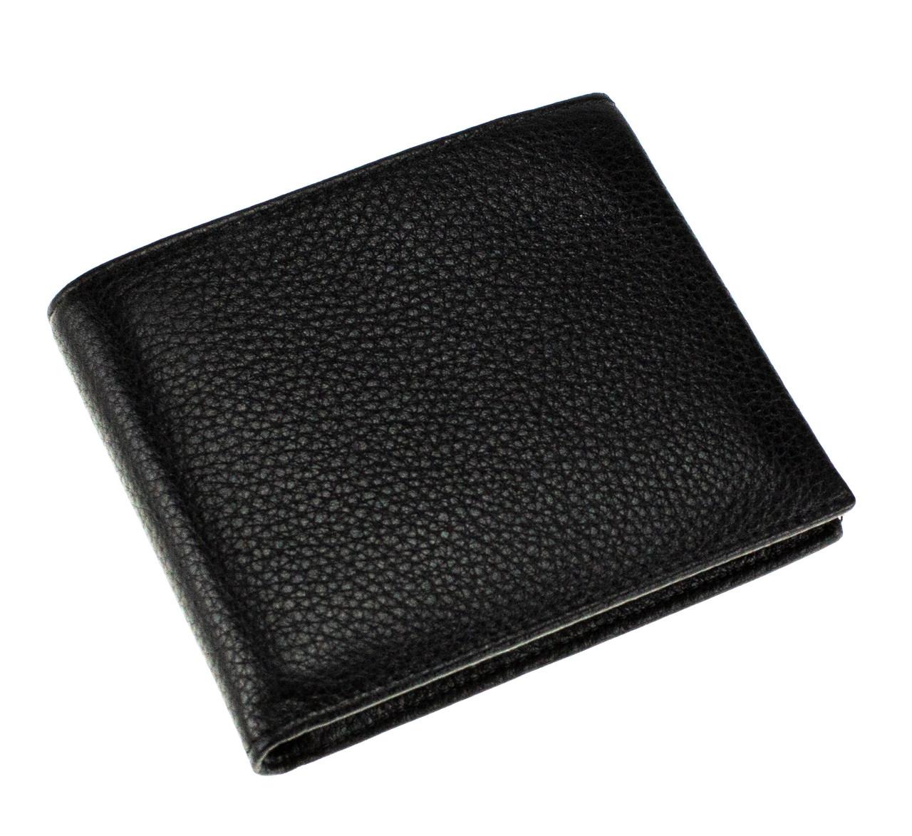 Мужской кошелек кожаный черный Eminsa 1028-17-1