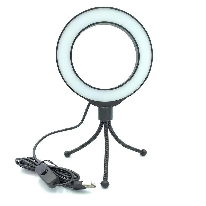 Кольцевой свет со стойкой Puluz PU422B Ring Light 12см (4W)