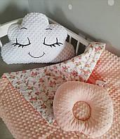 Детское одеяло конвертик в кроватку