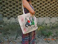 Эко-сумка из саржи Две красотки