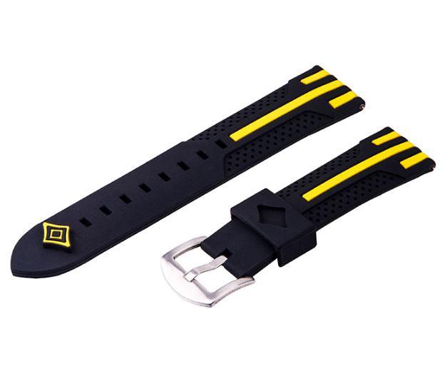 Силіконовий ремінець Primo Dart для годин Samsung Galaxy Watch 3 45mm (SM-R840) - Black&Yellow