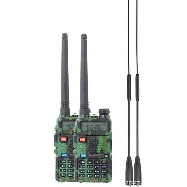 Рация Baofeng UV-5R Urban (5W, VHF/UHF, 136-174, 400-470MHz, до 5 км, 128 кан., АКБ), 2шт камуфляж