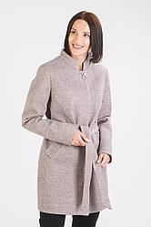 Стильное пальто под пояс Бетти 42-48 размер