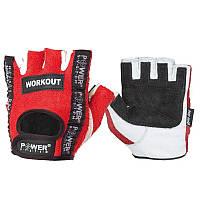 Перчатки для фитнеса и тяжелой атлетики Power System Workout PS-2200 M Red, фото 1