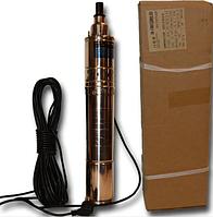 Погружной глубинный насос для скважин шнековый QJD 1.2-50-0.37-100 HWD(Forwater) гарантия 2 года