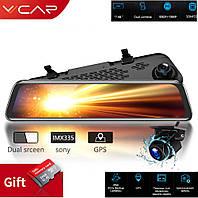 VVCar V17 1080P Потоковое зеркало видеорегистратор с камерой заднего вида 1080Р