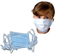 Одноразовая детская маска - 20 шт. / Маска для лица на завязках