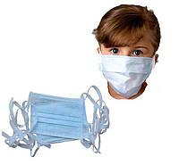 Одноразовая детская маска - 10 шт. + Антисептик / Маска для лица на завязках
